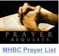 MHBC Prayer List
